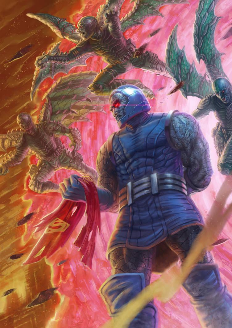 Darkseid and his Parademons by jubjubjedi