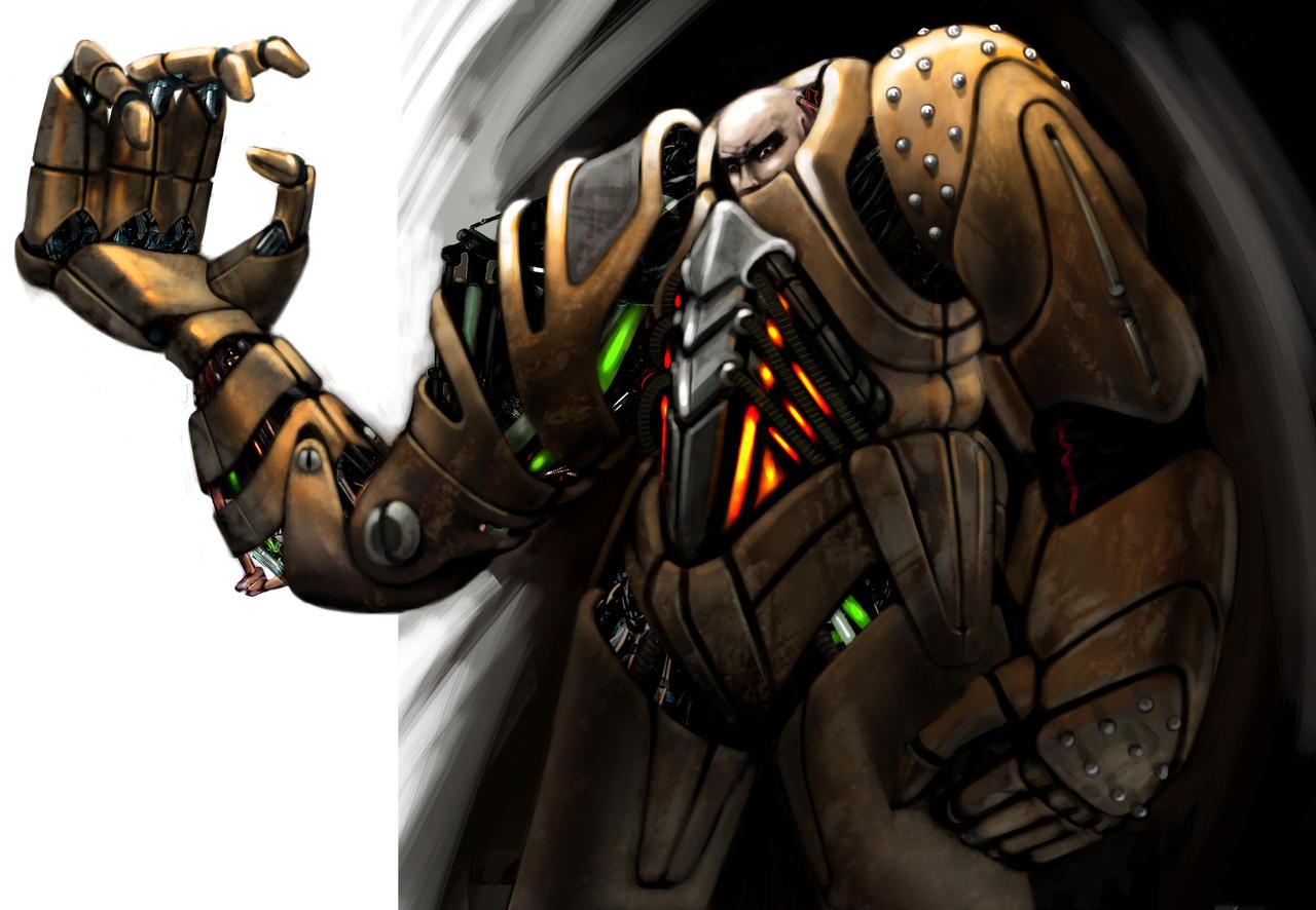 Warhammer 40K-Inspired Warrior by jubjubjedi