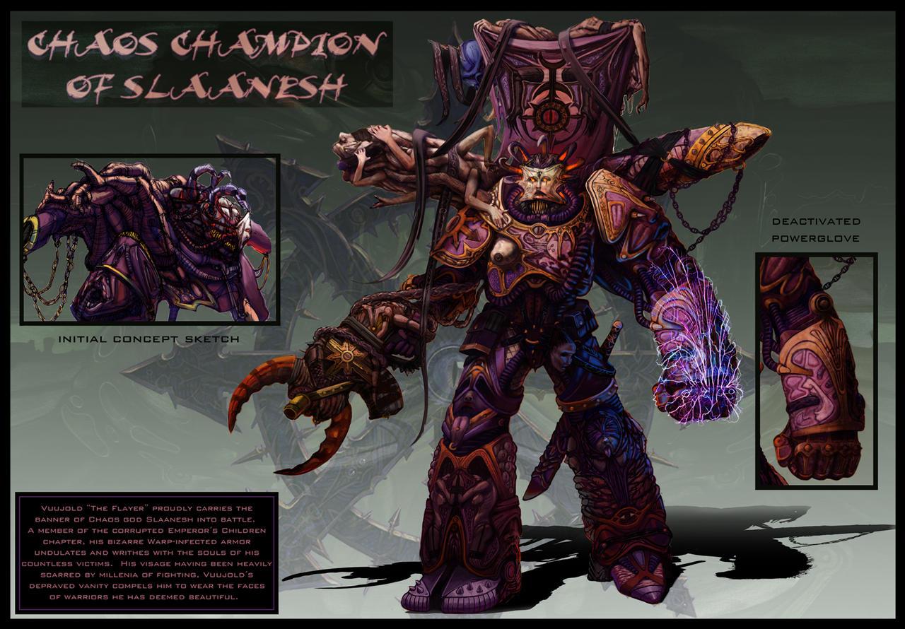 Chaos Champion of Slaanesh by jubjubjedi on DeviantArt