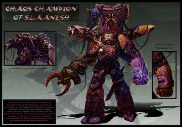 Chaos Champion of Slaanesh by jubjubjedi
