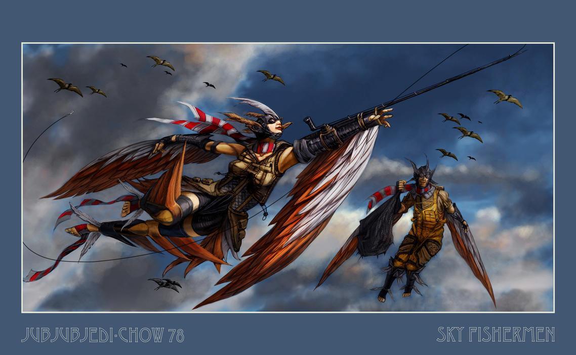 Sky Fishermen by jubjubjedi