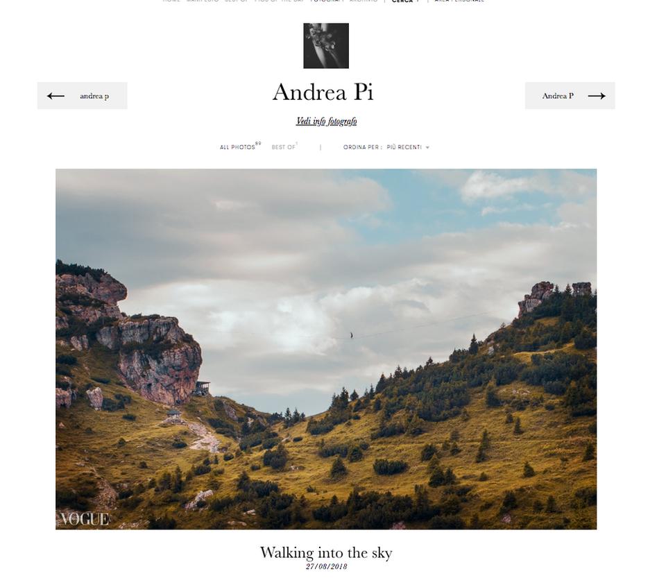 Published on Photovogue! by artigianodellaluce