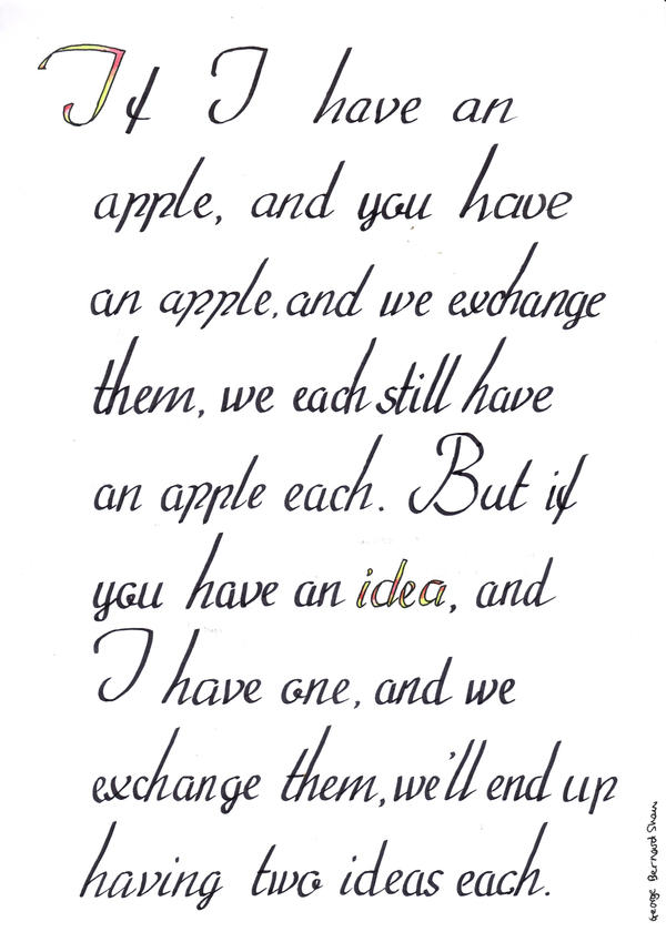 If I give you an apple by Itti