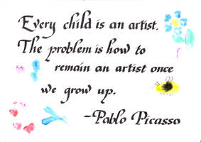 Every child is an artist by Itti