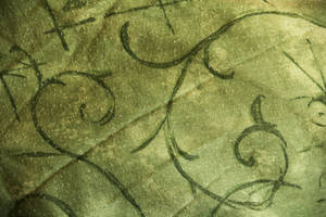 Texture: Green fabric swirls by Itti