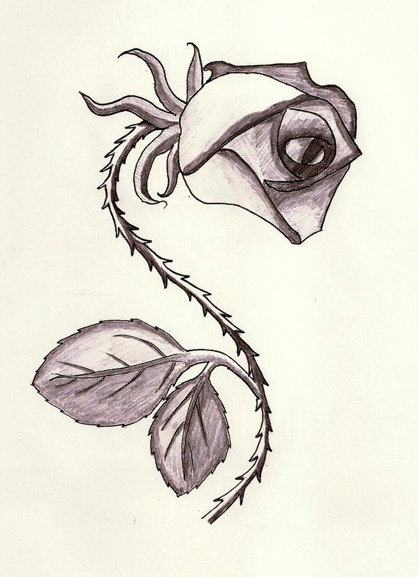 Tattoo Thorny Rose By Itti On DeviantArt