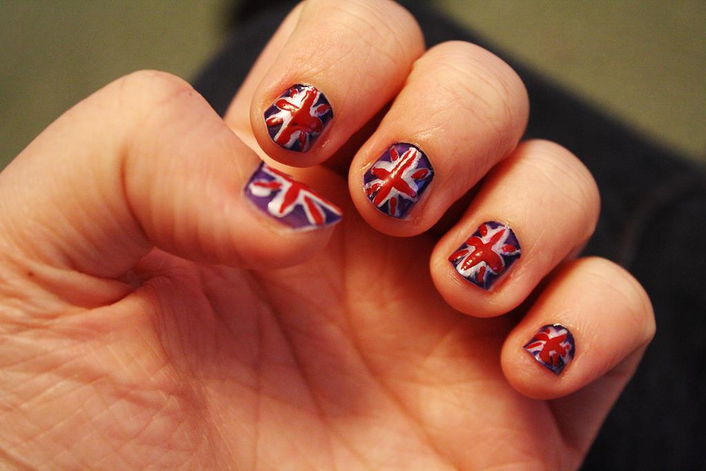 Union Jack nails by Itti on DeviantArt