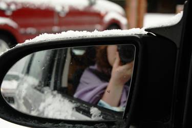 Snowy mirror