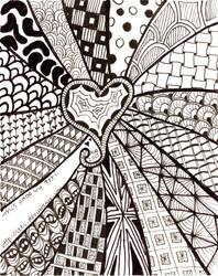 Zentangle heart by Itti