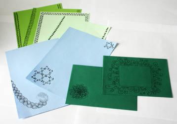 Zentangle letter set by Itti