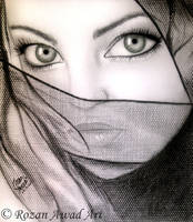 Rozan Awad Art ( The scarf  ) by RozanAwad