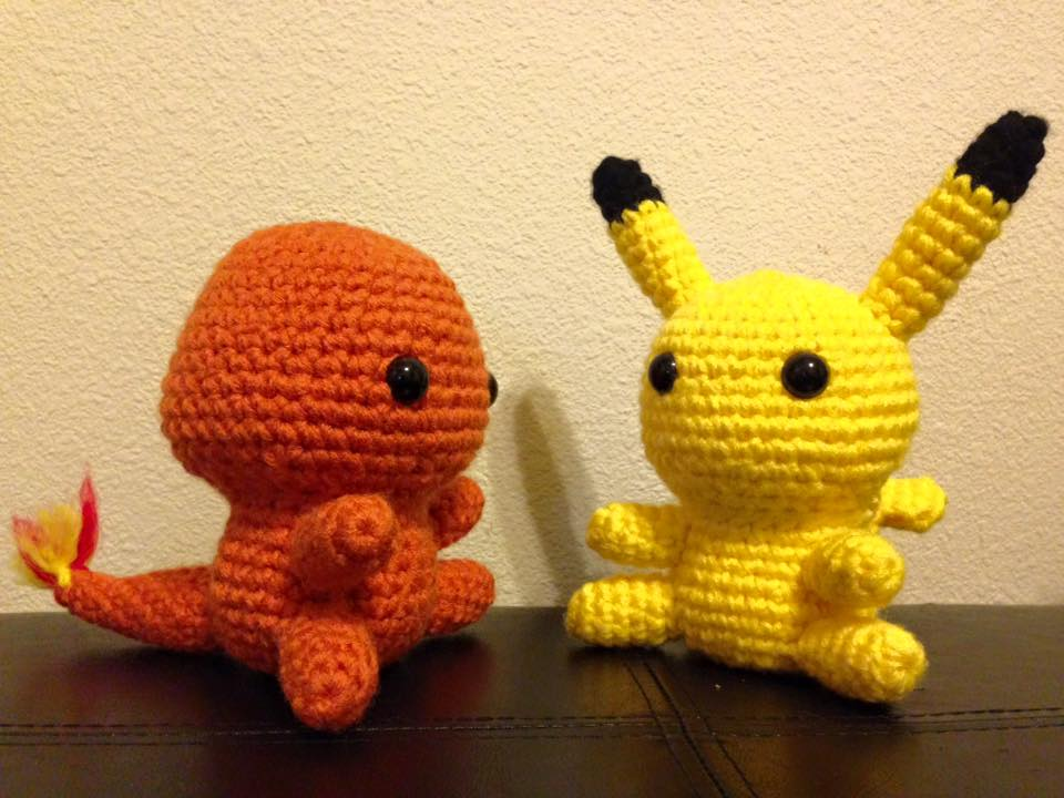 Schema Pikachu Amigurumi : Charmander and Pikachu Amigurumi by bmestar on DeviantArt