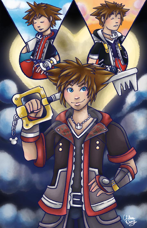 Kingdom Hearts Sora Print by The-Virgo-Fairy