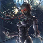 STI card art  X'hrala Cyber-Djinn concept3
