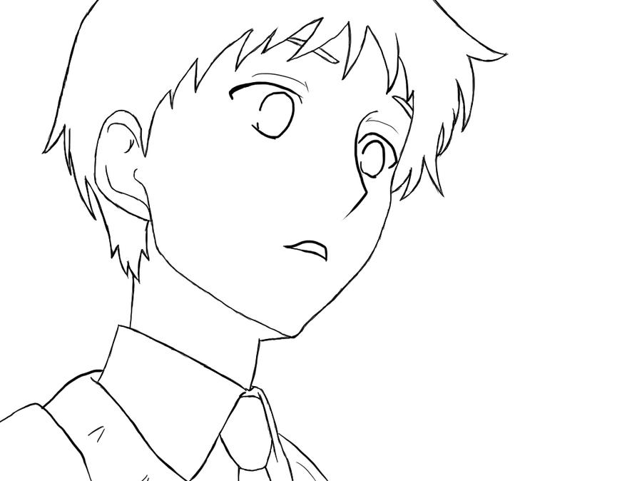Anime Boy Line Art Coloring Pages Chibi