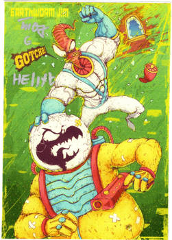 Earthworm Jim postcard