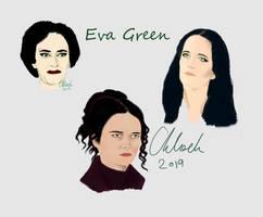 Practice doodles - Eva Green.
