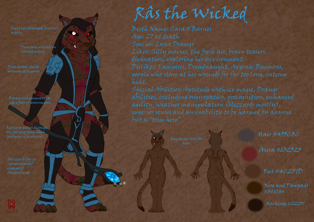 Ras the Wicked Ref Sheet by MorbiusMonster