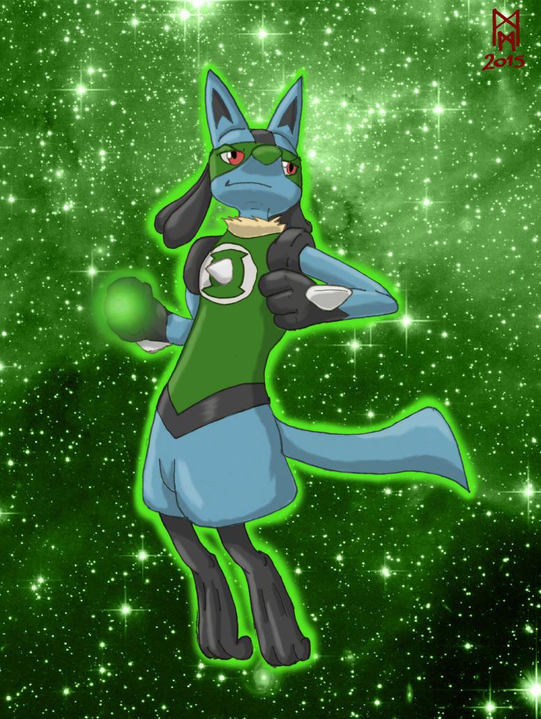 Green Lantern Lucario by MorbiusMonster