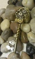 Stempunk Mechanical Fantasy Key by ArtByStarlaMoore