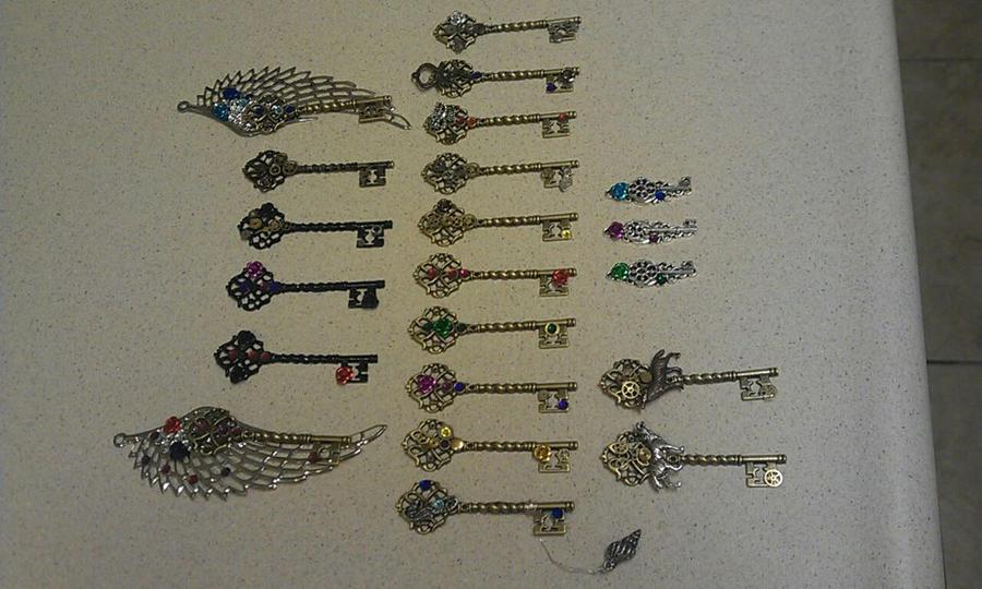 New Fantasy Keys! by ArtByStarlaMoore