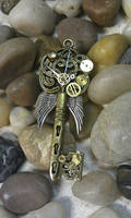 Clock-work Angel Fantasy Key by ArtByStarlaMoore