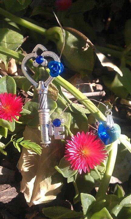 Sapphire Garden Fantasy Key by ArtByStarlaMoore
