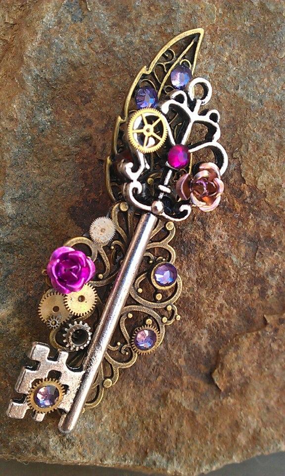 Mechanical Garden Fantasy Key by ArtByStarlaMoore