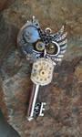 Clockwork Owl Fantasy Key