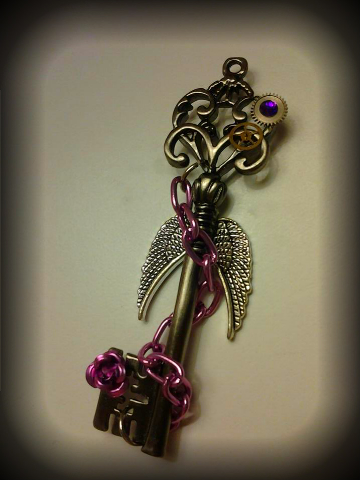 Lavender and Gunmetal Fantasy Key by ArtByStarlaMoore