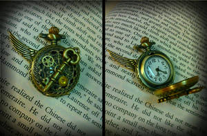Functional Time Keeper Pocket Watch by ArtByStarlaMoore