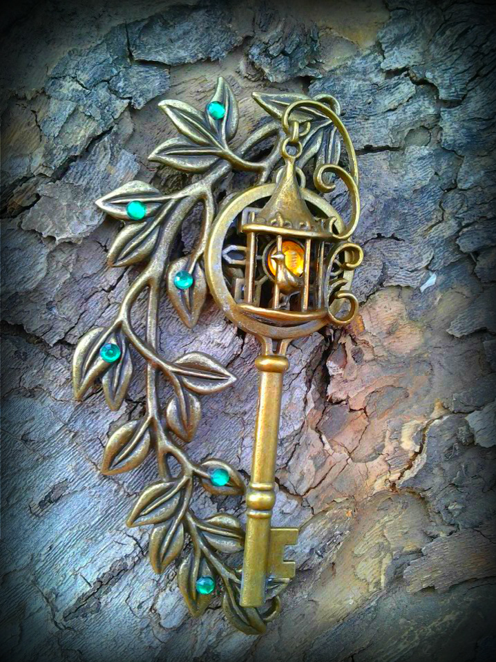 Garden Lamp Post Fantasy Key 2 by ArtByStarlaMoore