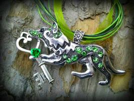 Emerald Key Keeper by ArtByStarlaMoore