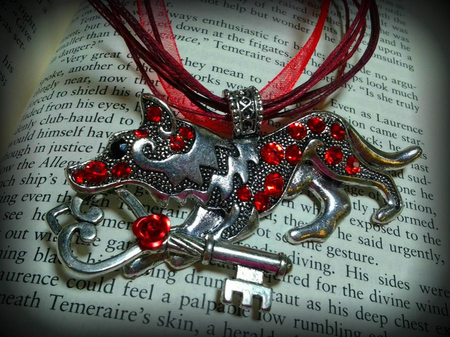 Valentine's Key Keeper Wolf by ArtByStarlaMoore