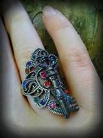 Rainbow Key Ring by ArtByStarlaMoore