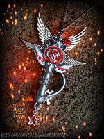Mars' Crystal Power Wand inspired Fantasy Key by ArtByStarlaMoore