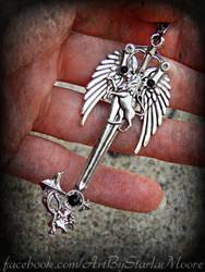 SLEEPING LION AUCTION Keyblade pendant by ArtByStarlaMoore