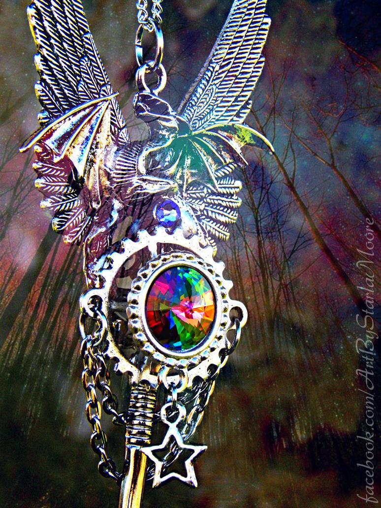 Mystic Celestial Dragon Key by ArtByStarlaMoore