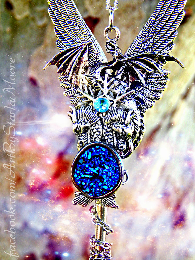 Galaxy Stone Dragon Key by ArtByStarlaMoore