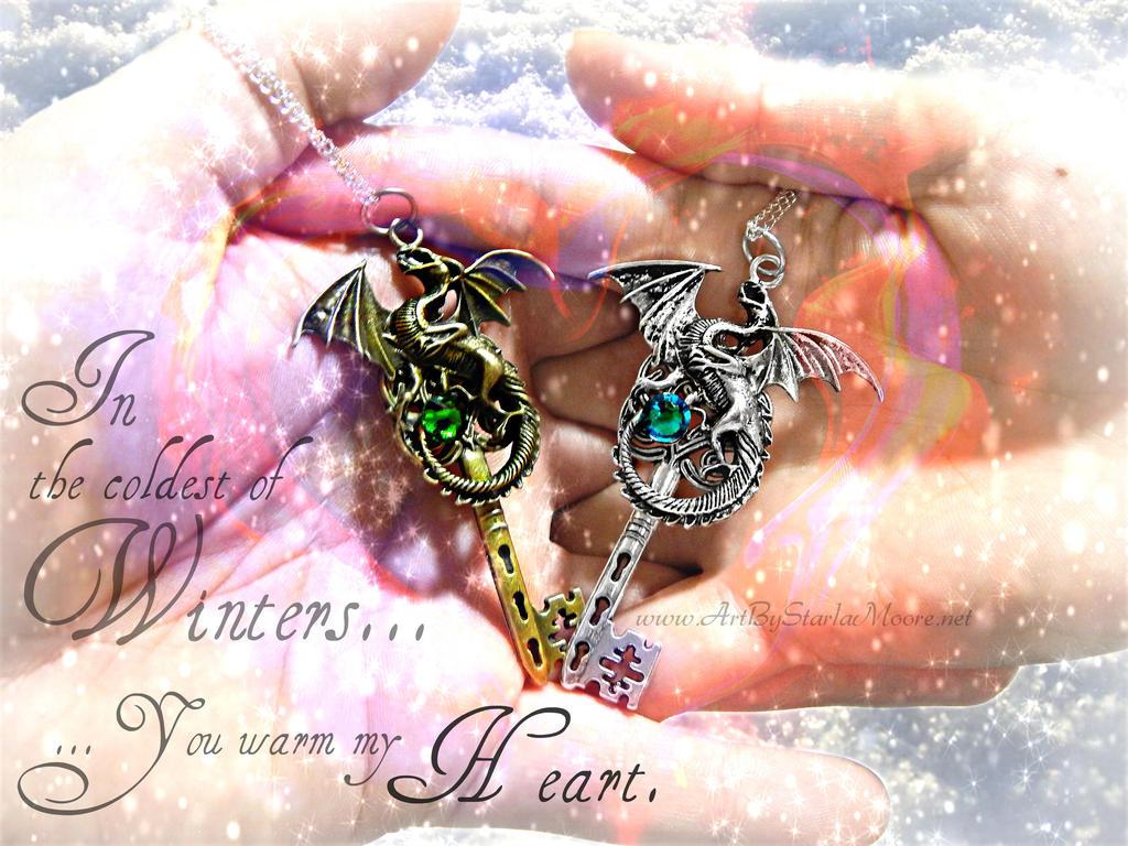 Couple's Dragons by ArtByStarlaMoore