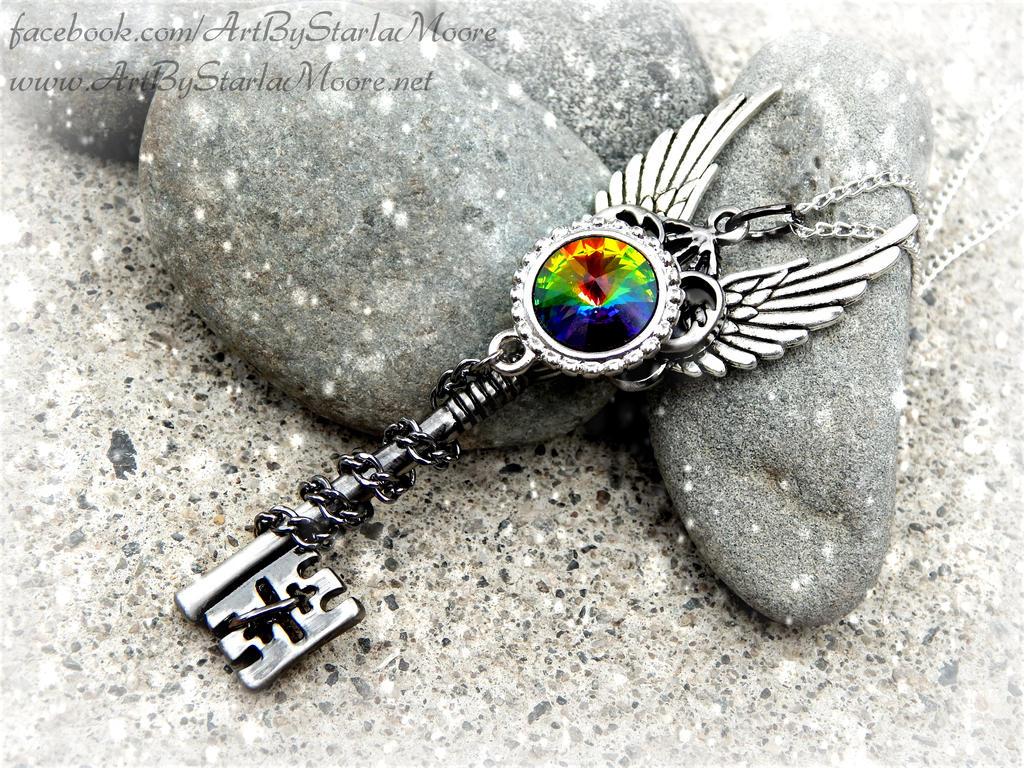 Celestial Vitrail Rainbow by ArtByStarlaMoore