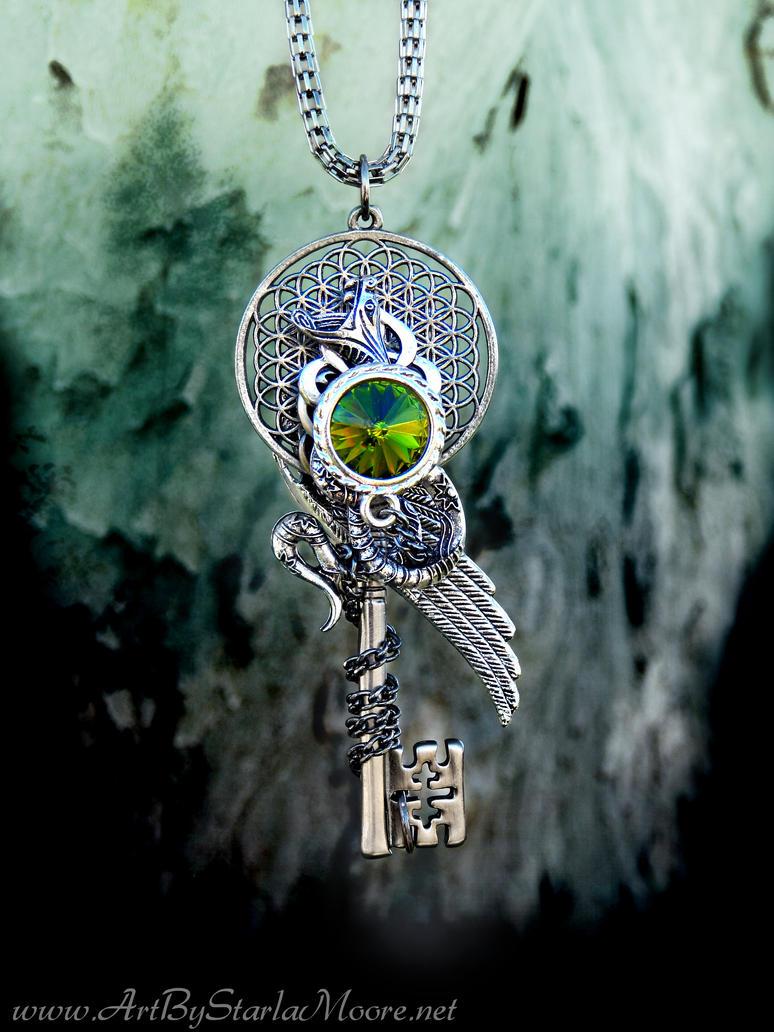 Bring me the Horizon Inspired Key Pendant Auction by ArtByStarlaMoore