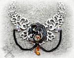 Rise of the Celtic Moon- Giant Dragon Choker by ArtByStarlaMoore