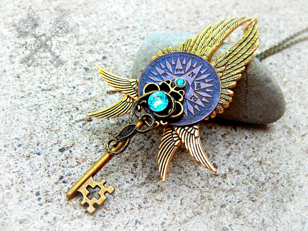 Northern Spirit Key Necklace by ArtByStarlaMoore