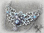 Crystal Ice Dragon Statement Necklace