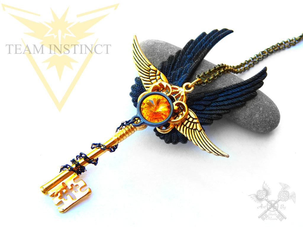 Team INSTINCT inspired Skeleton Key Necklace by ArtByStarlaMoore