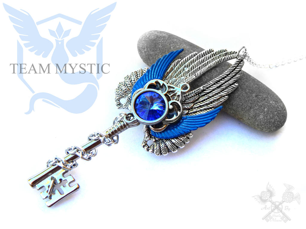Team MYSTIC inspired Skeleton Key Necklace by ArtByStarlaMoore