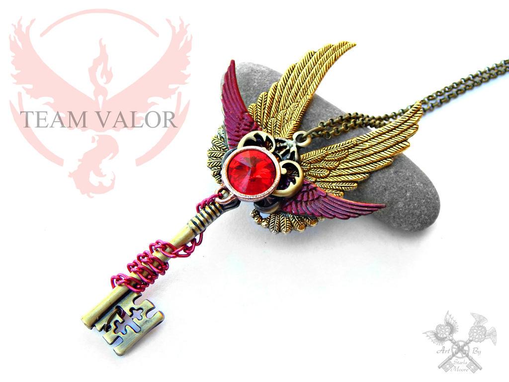 Team Valor Inspired Skeleton Key Necklace By
