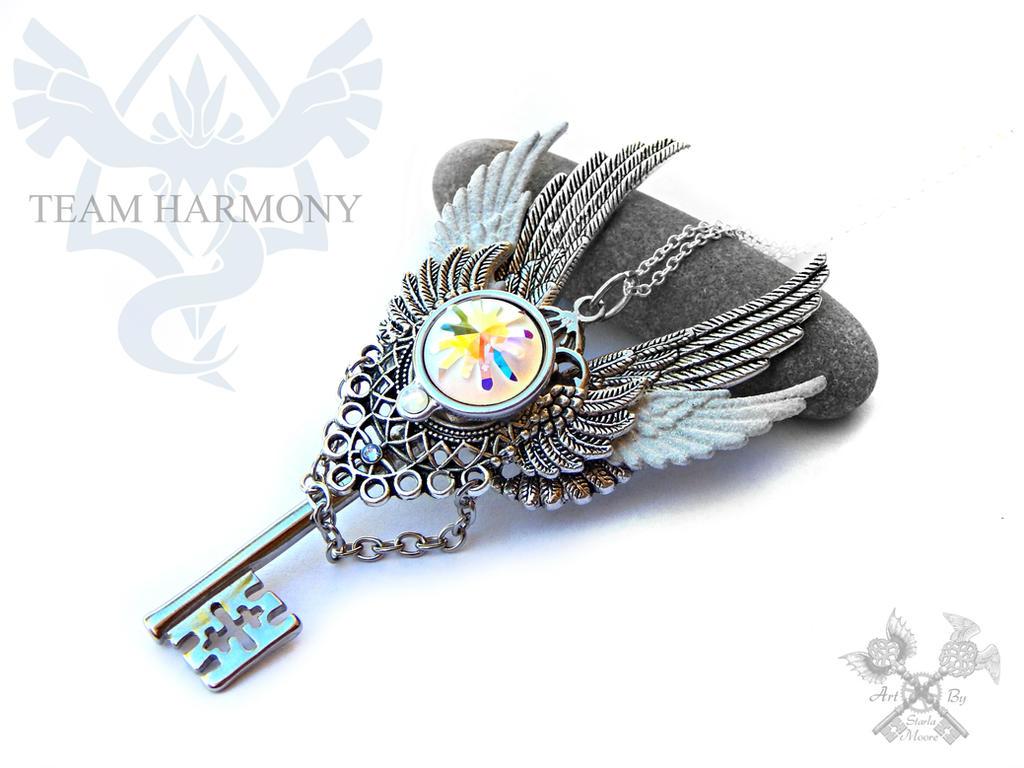 Team HARMONY inspired Skeleton Key Necklace by ArtByStarlaMoore