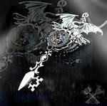 Shadow Dragon Skeleton Key Necklace